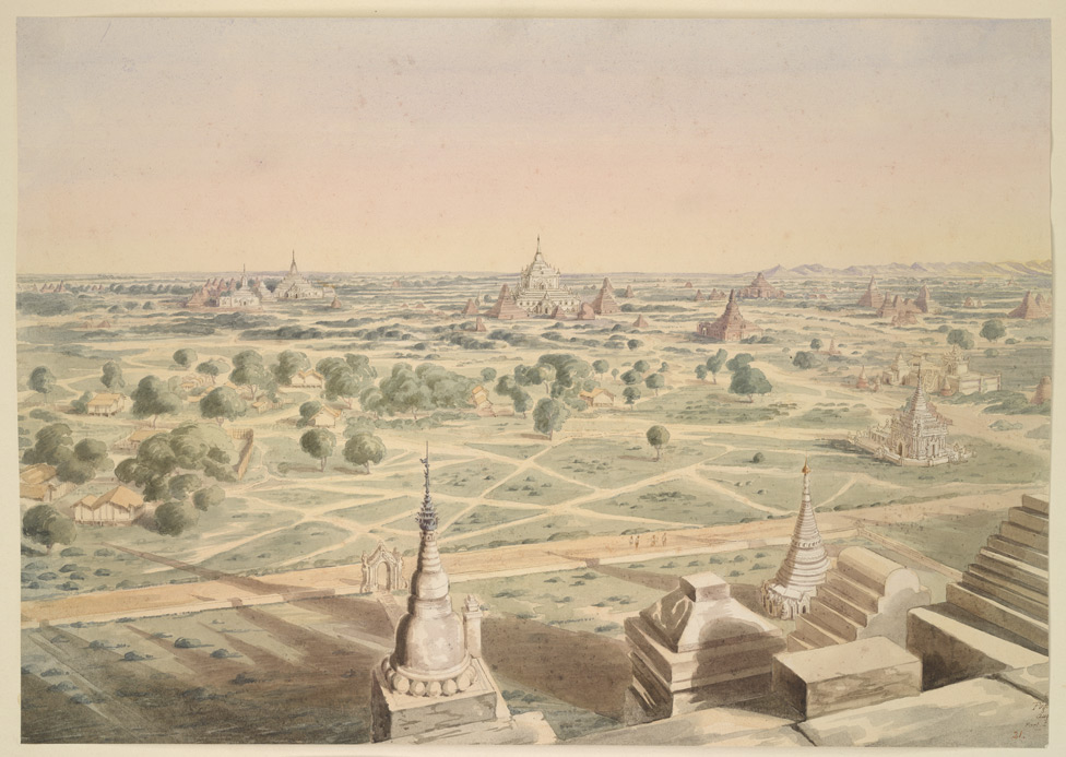 Panoramic view of Pagân, looking E. by S.